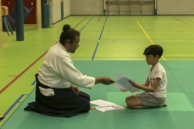 Kyu examen januari 2020 bij Aikido Dronten